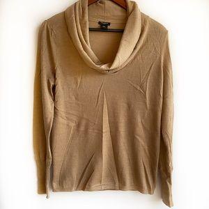 Ann Taylor Cowl-neck Sweater, Light Brown
